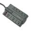 Kensington® Guardian Premium Surge Protector, 8 Outlets, 6 ft Cord, 1080 Joules, Gray Thumbnail 1