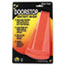 """Master Caster® Giant Foot Doorstop, No-Slip Rubber Wedge, 3-1/2""""W x 6-3/4""""D x 2""""H, Safety Orange Thumbnail 1"""