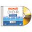 Maxell® DVD-R Discs, 4.7GB, 16x, w/Jewel Cases, Gold, 5/Pack Thumbnail 2