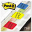 Post-it® Tabs File Tabs, 1 x 1 1/2, Assorted Primary Colors, 66/Pack Thumbnail 2