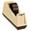 """Scotch™ Heavy-Duty Weighted Desktop Tape Dispenser, 3"""" Core, Plastic, Putty/Brown Thumbnail 2"""
