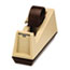 """Scotch™ Heavy-Duty Weighted Desktop Tape Dispenser, 3"""" Core, Plastic, Putty/Brown Thumbnail 4"""