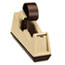 """Scotch™ Heavy-Duty Weighted Desktop Tape Dispenser, 3"""" Core, Plastic, Putty/Brown Thumbnail 6"""