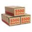PM Company® Corrugated Cardboard Coin Storage w/Denomination Printed On Side, Orange Thumbnail 2