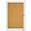 Quartet® Enclosed Bulletin Board, Natural Cork/Fiberboard, 24 x 36, Silver Aluminum Frame Thumbnail 2