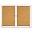 Quartet® Enclosed Bulletin Board, Natural Cork/Fiberboard, 48 x 36, Silver Aluminum Frame Thumbnail 2