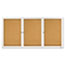Quartet® Enclosed Bulletin Board, Natural Cork/Fiberboard, 72 x 36, Silver Aluminum Frame Thumbnail 2