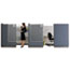 """Quartet® Workstation Privacy Screen, 36"""" W x 48"""" H, Translucent Clear/Silver Thumbnail 1"""