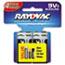 Rayovac® Alkaline Batteries, 9V, 4/Pack Thumbnail 1