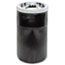 Rubbermaid® Commercial Smoking Urn w/Ashtray and Metal Liner, 19.5H x 12.5 dia, Black Thumbnail 1