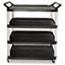 Rubbermaid® Commercial Open Sided Utility Cart, Four-Shelf, 40-5/8w x 20d x 51h, Black Thumbnail 1