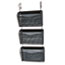 Rolodex® Three-Pack Wire Mesh Wall Files, Letter, Three Pockets, Black Thumbnail 2