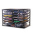 """Rubbermaid® 12-Compartment Organizer with Mesh Drawers, 23 4/5"""" x 15 9/10"""" x 15 2/5"""", Black Thumbnail 1"""