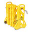 """Rubbermaid® Commercial Portable Mobile Safety Barrier, Plastic, 13ft x 40"""", Yellow Thumbnail 1"""