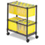 Safco® Two-Tier Rolling File Cart, 25-3/4w x 14d x 29-3/4h, Black Thumbnail 1
