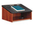 Safco® Tabletop Lectern, 24w x 20d x 13-3/4h, Cherry/Black Thumbnail 1