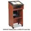 Safco® Tabletop Lectern, 24w x 20d x 13-3/4h, Cherry/Black Thumbnail 2