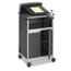 Safco® Scoot Multipurpose Lectern, 28-3/4w x 22d x 49-3/4h, Black/Silver Thumbnail 1