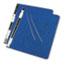 "ACCO® PRESSTEX Covers w/Storage Hooks, 6"" Cap, 8 1/2 x 12, Dark Blue Thumbnail 2"