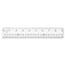 "Westcott® See Through Acrylic Ruler, 18"", Clear Thumbnail 1"