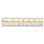 "Westcott® Acrylic Data Highlight Reading Ruler With Tinted Guide, 15"" Clear Thumbnail 1"