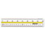 "Westcott® Acrylic Data Highlight Reading Ruler With Tinted Guide, 15"" Clear Thumbnail 2"