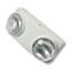 "Tatco Swivel Head Twin Beam Emergency Lighting Unit, Polycarbonate Case, 5-1/2"", White Thumbnail 1"