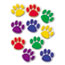 Teacher Created Resources Paw Print Accents, Assorted Colors Thumbnail 1