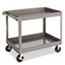 Tennsco Two-Shelf Metal Cart, 24w x 36d x 32h, Gray Thumbnail 1