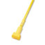 """Boardwalk® Plastic Jaws Mop Handle for 5 Wide Mop Heads, 60"""" Aluminum Handle, Yellow Thumbnail 1"""