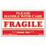 Universal® Printed Message Self-Adhesive Shipping Labels, FRAGILE Handle with Care, 3 x 5, Red/Clear, 500/Roll Thumbnail 1