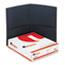 Universal Two-Pocket Portfolio, Embossed Leather Grain Paper, Dark Blue, 25/Box Thumbnail 2