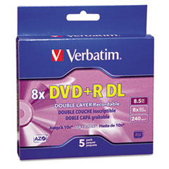 VER 95311 Verbatim DVD+R Dual Layer Recordable Disc VER95311