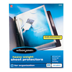 WLJ 21412 Wilson Jones Heavyweight Top-Loading Sheet Protectors WLJ21412