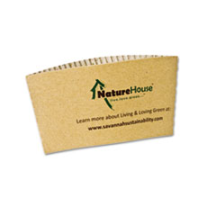 SVA S01 NatureHouse Unbleached Paper Hot Cup Sleeves SVAS01