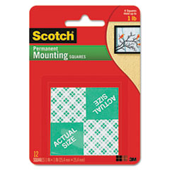 MMM 111P Scotch Permanent High-Density Foam Mounting Tape MMM111P