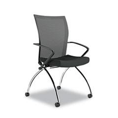 MLN TSH1BB Safco Valoré Training Series High-Back Nesting Chair MLNTSH1BB