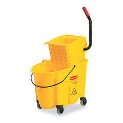 RCP 748000YEL Rubbermaid Commercial WaveBrake Bucket/Wringer Combos RCP748000YEL