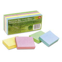RTG 25701 Redi-Tag 100% Recycled Self-Stick Notes RTG25701
