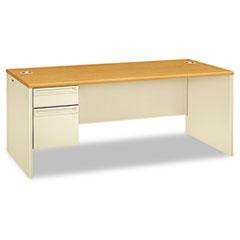 HON 38294LCL HON 38000 Series Single Pedestal Desk HON38294LCL