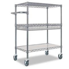 ALE SW543018BA Alera Wire Shelving Three-Tier Rolling Cart ALESW543018BA