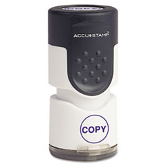COS 035653 ACCUSTAMP Pre-Inked Round Stamp COS035653