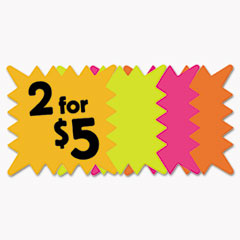 COS 090244 COSCO Die Cut Paper Signs COS090244