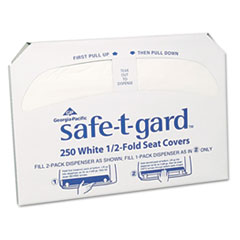 GPC 47046 Georgia Pacific  Professional Safe-T-Gard Half-Fold Toilet Seat Covers GPC47046
