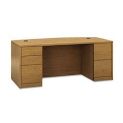 HON 105899CC HON 10500 Series Bow Front Double Pedestal Desk with Full-Height Pedestals HON105899CC