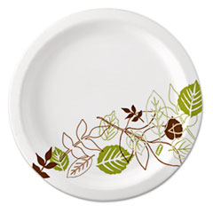 DXE UX7WS Dixie Pathways Soak-Proof Shield Mediumweight Paper Plates DXEUX7WS