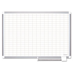 BVC MA0592830 MasterVision Gridded Magnetic Steel Dry Erase Planning Board BVCMA0592830