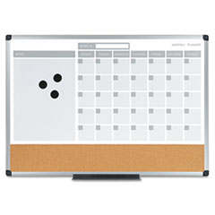 BVC MB3507186 MasterVision 3-in-1 Planner Board BVCMB3507186
