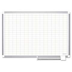 BVC CR0630830 MasterVision Gridded Magnetic Porcelain Dry Erase Planning Board BVCCR0630830