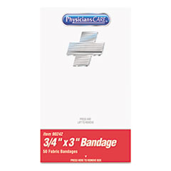 FAO 90242 PhysiciansCare by First Aid Only Xpress First Aid Refill Plastic Bandages FAO90242